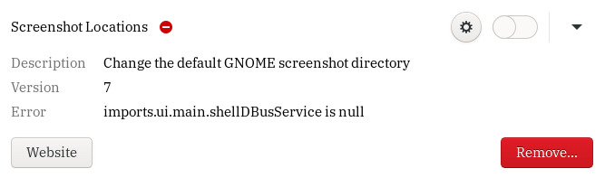 GNOME Extensions reporting that imports.ui.main.shellDBusService is null
